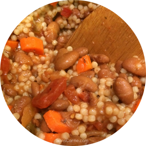 Pinto bean and couscous mix