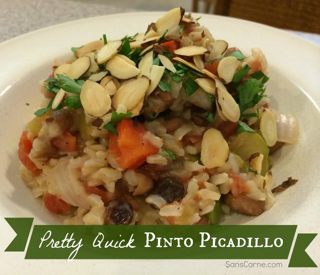 Pretty Quick Pinto Picadillo