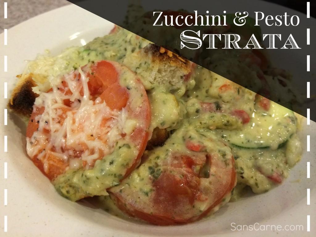 zucchini and pesto strata